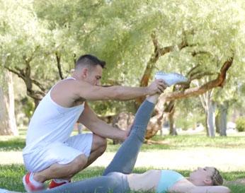 Placer a su coño luego de los ejercicios