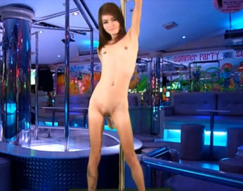 Bailarina asiática muy delgada follada por un cliente