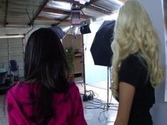 Rodaje porno entre dos lesbianas cañon